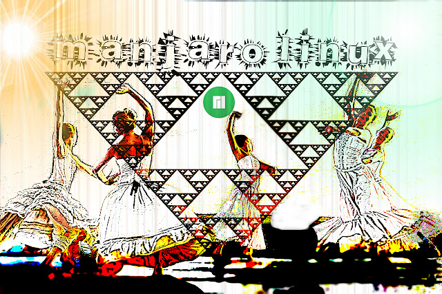 Manjaro Linux Girls Dance (versão 1)