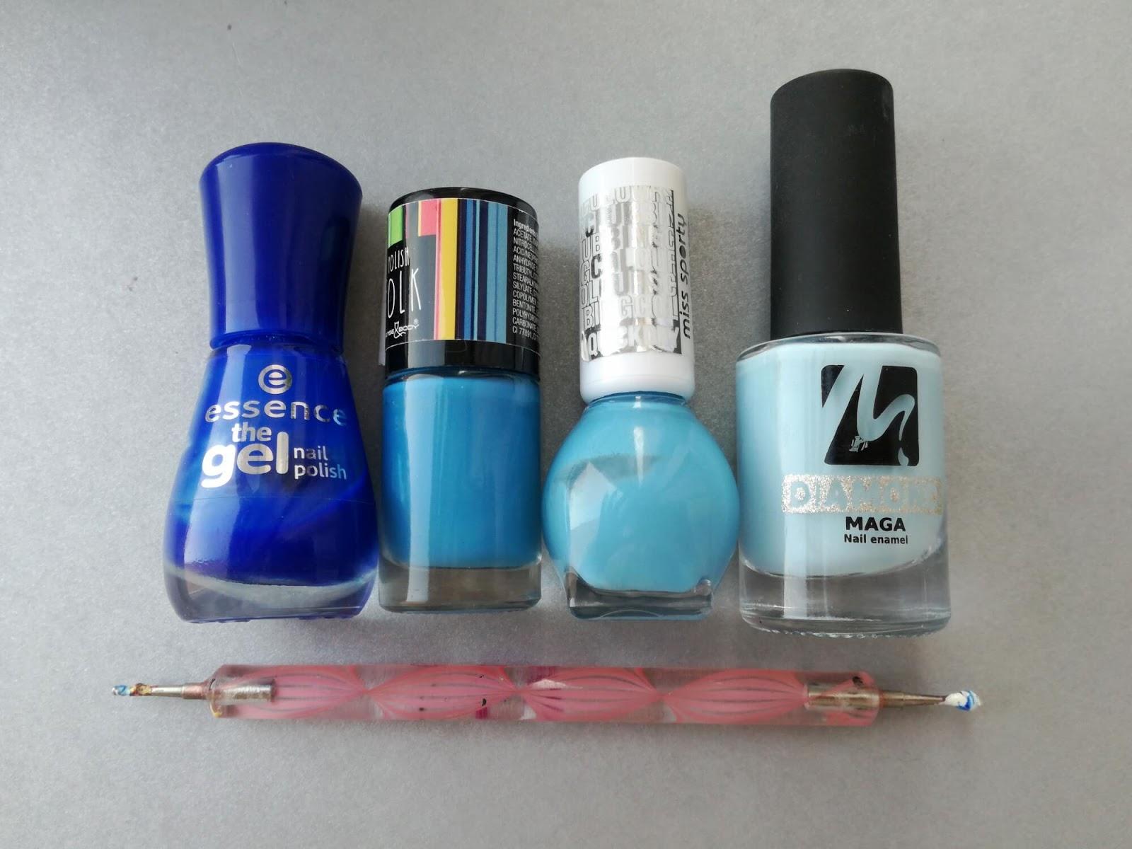 niebieskie lakiery