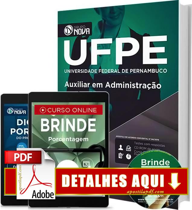 Apostila UFPE 2016 Auxiliar em Administração Impressa