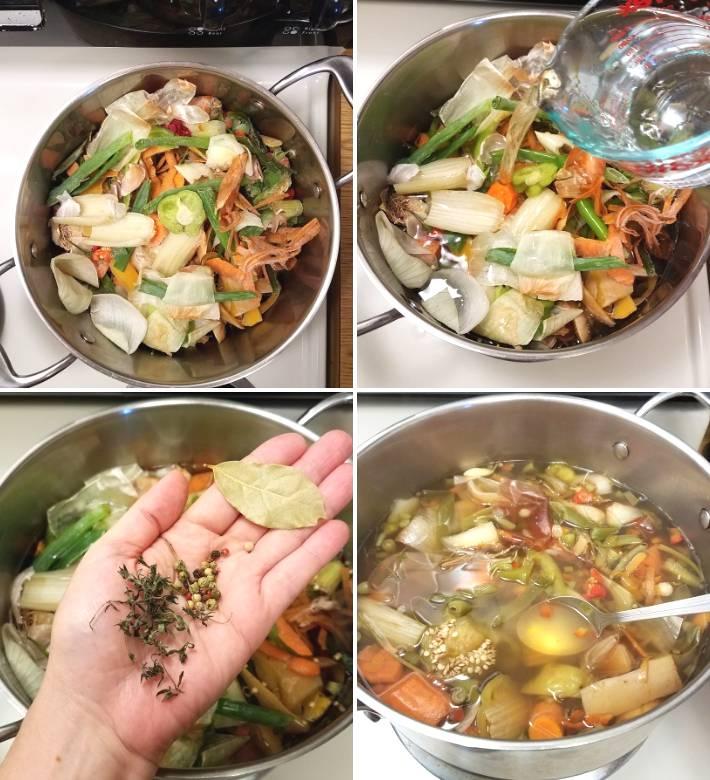 Cómo hacer el caldo con los restos de vegetales, una forma de reciclar en la cocina