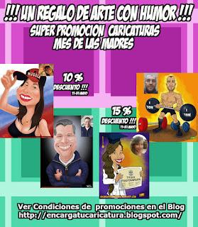 """PROMOCIÓN CARICATURAS """"MES DE LAS MADRES"""""""