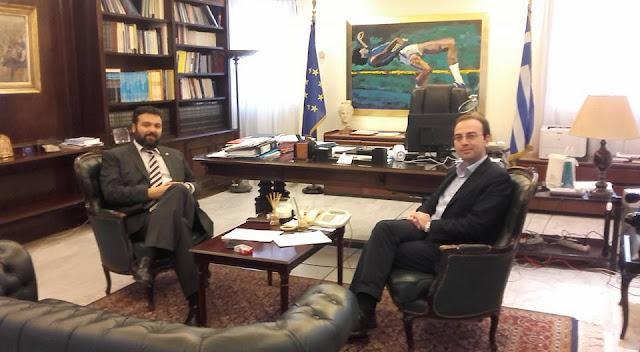 Άρτα: Συνάντηση Β.Τσίρκα με τον Υφυπουργό Αθλητισμού