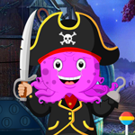 Games4King Pirate Octopus Rescue Walkthrough