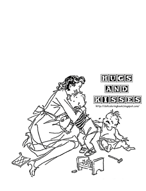 hugs and kisses coloring pages - photo#21