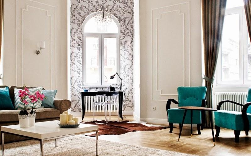 Hogares frescos apartamento restaurado del siglo 19 con Estilo clasico diseno de interiores