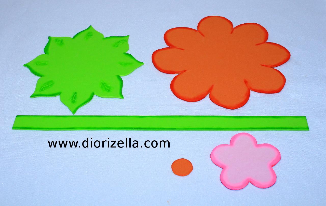 Diorizella En Casa: DIY Como Hacer Canasta con Flores en Foami #Dulcero