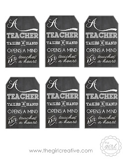 photograph regarding Free Printable Teacher Appreciation Tags titled A Trainer Will take a Hand Instructor Appreciation Present Principle +