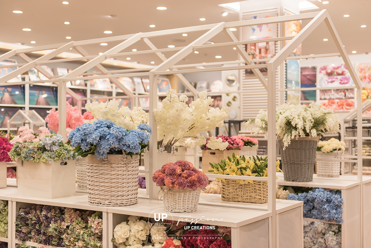 kaison aeon shah alam with feature house racking for flower products display