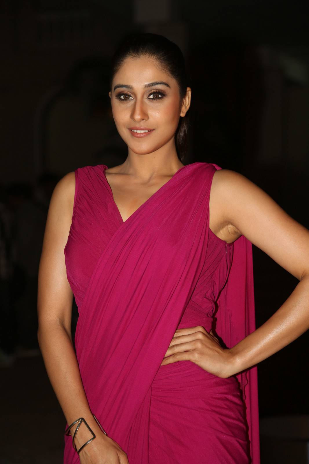 Regina Cassandra Stills At Soukyam Movie Press Meet