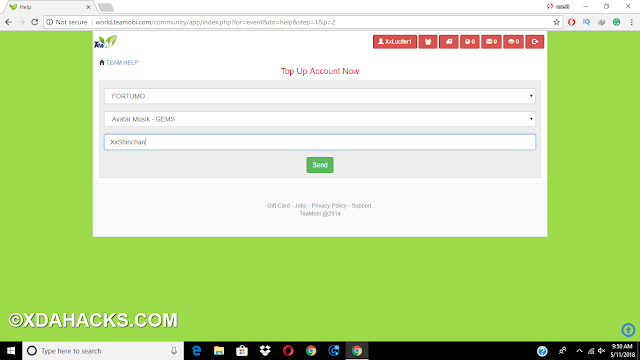 How To Topup Teamobi Account -: Topup Avatar Musik, The Pirate War, Knight Online Games www.xdahacks.com