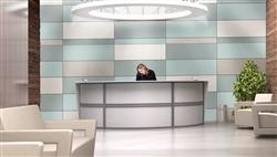 OFM Designer White Reception Desk at OfficeAnything.com