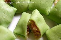 Resep Dadar gulung isi unti kelapa yang lembut dan manis
