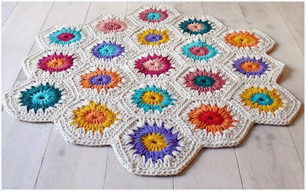 Tachuelas diy co tutorial alfombra trapillo con muestras de hex gonos multiforma - Tutorial alfombra trapillo ...