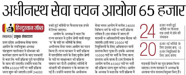 UP Gram Panchayat Adhikari Recruitment 2018 1527 Bharti News