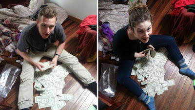 After they saw a name on a deposit slip, they returned the money to the 91-year-old woman.