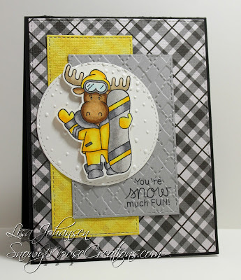You're snow much fun by Lisa J. features Moose Mountain by Newton's Nook Designs; #newtonsnook