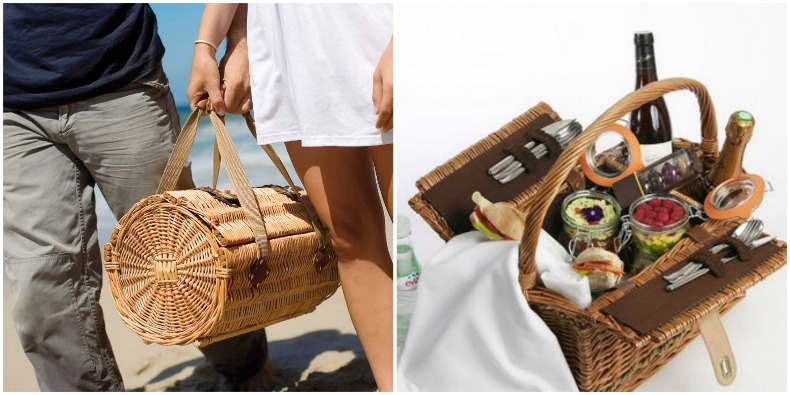 Coastal picnic baskets