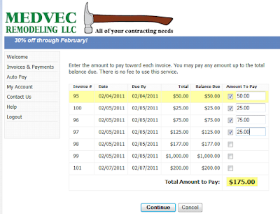 Bill Pay - Open invoice customer service