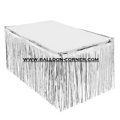 Tirai Foil Meja / Fringe Curtain Table Skirt