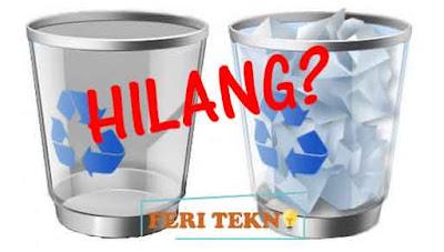 mengatasi recycle bin yang hilang - Feri Tekno