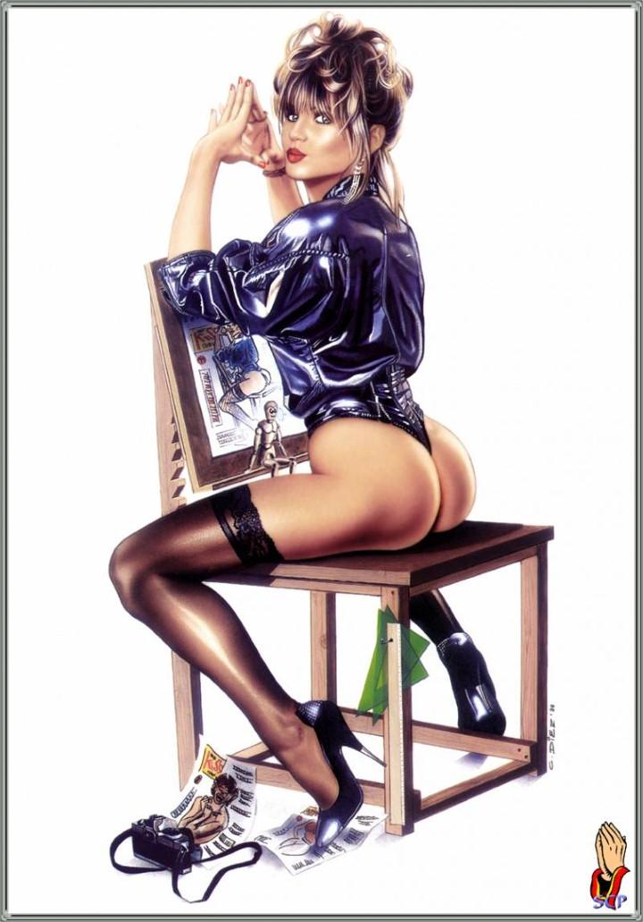 Художник Carlos Diez. Sexy Dreams Pin-ups 44