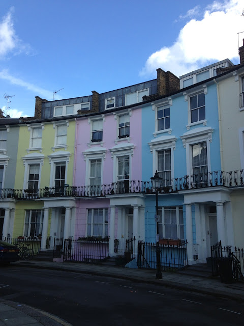 Painted houses, Chalcot Crescent, Primrose Hill, London NW1