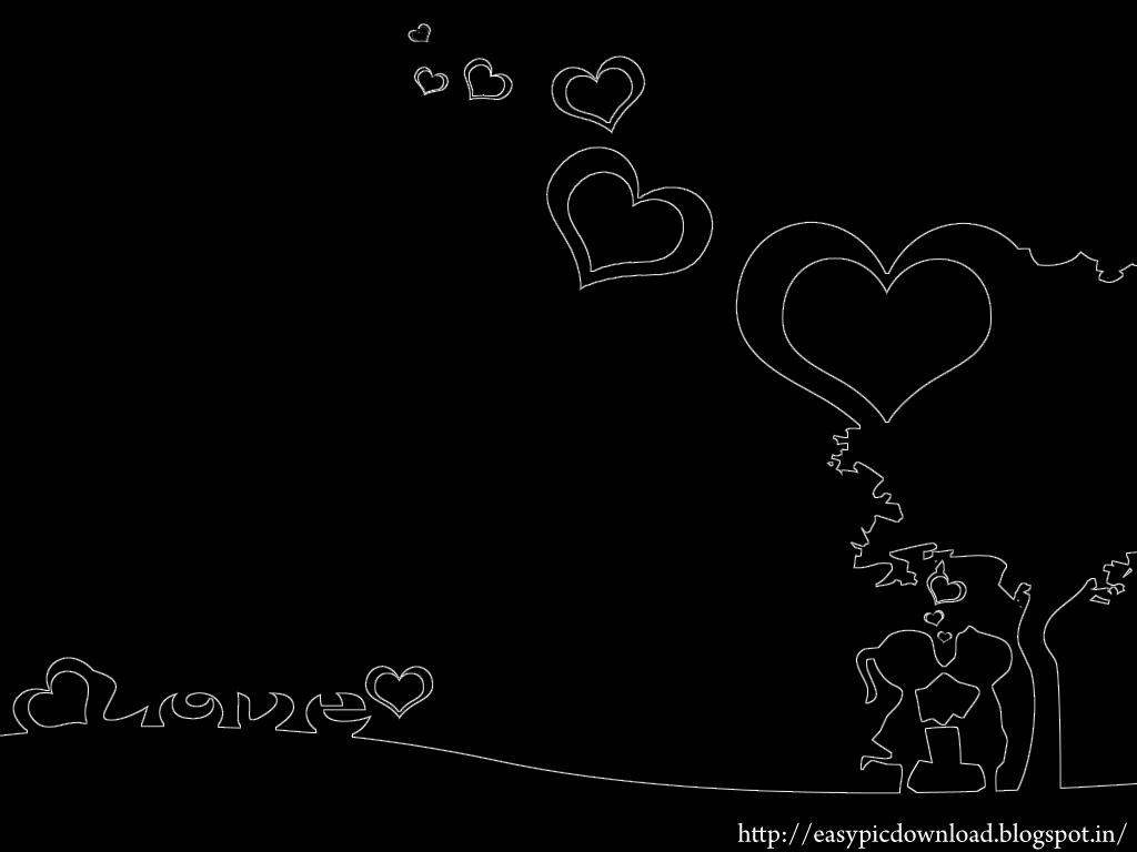 black wallpaper love - photo #16
