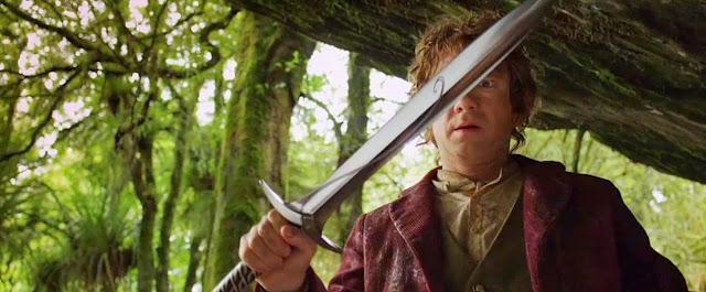 O Hobbit Bilbo Baggins - Bolseiro - Empunha a Espada Ferroada pela Primeira Vez