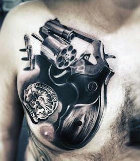 ลายสักกระสุนปืน