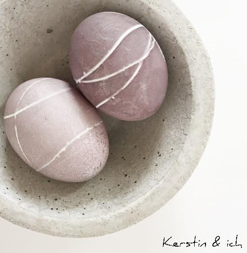 steinfarben Eier färben