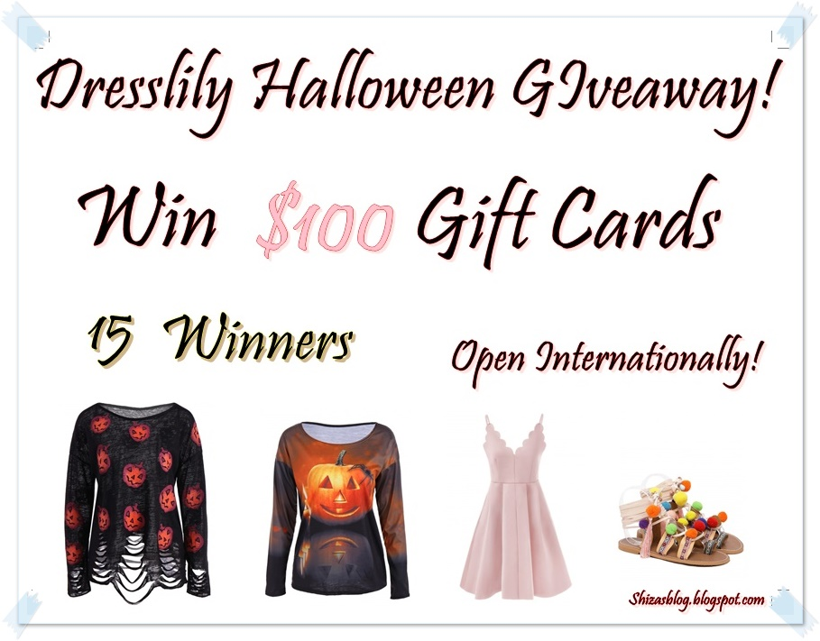 be7e03b75ba Dresslily Halloween Giveaway!Win  100 Gift Cards(Open Internationally)