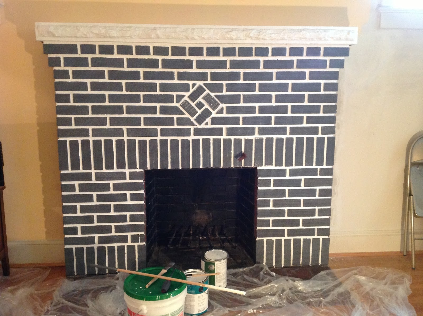 Home In The District: Painting the Red Brick Fireplace ...