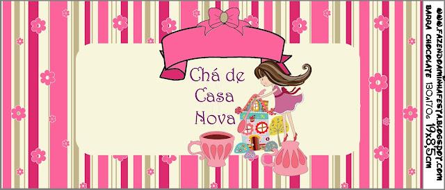 Chá De Casa Nova Kit Completo Com Molduras Para Convites Rótulos