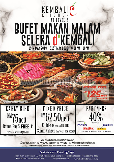 """Selera d' Kembali"" Buffet Dinner Preview @ Kembali Kitchen, Best Western PJ"