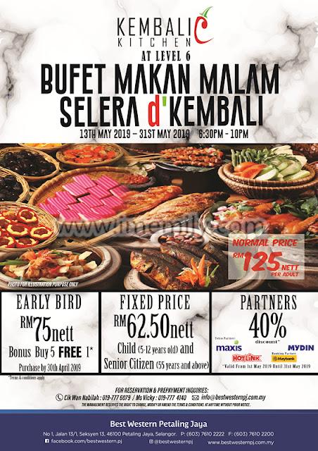 """Selera d' Kembali"" Buffet Dinner Preview @ Kembali Kitchen, Best Western PJ"