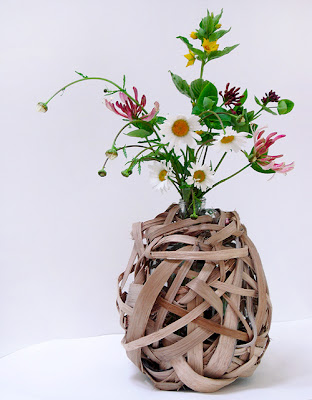 Riven Oak Vase prototype by Elizabeth Cadd
