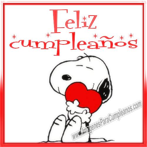 Snoopy Feliz Cumpleaños