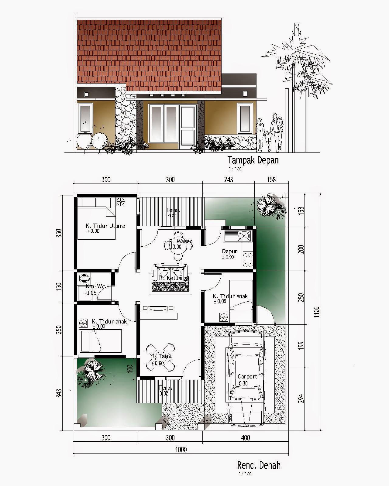 Denah Rumah Minimalis 3 Kamar Tidur Terbaru dan Terlengkap ...