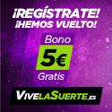 vivelasuerte bono 5 euros gratis