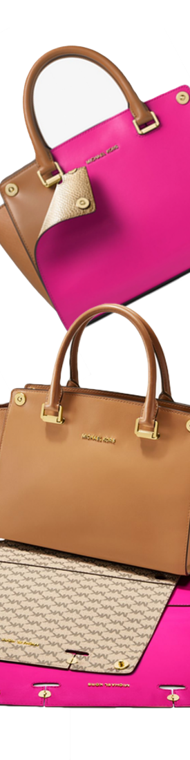 MICHAEL MICHAEL KORS Selma 3-in-1 Medium Leather Satchel