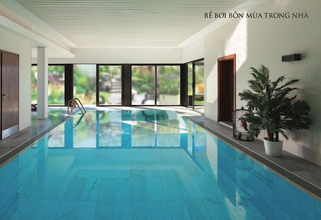 Bể bơi trong nhà chung cư Núi Trúc