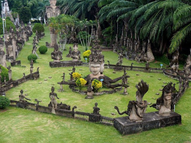 Statues in Buddha Park, outside Vientiane, Laos