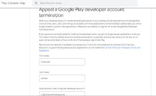 Formulir banding google play store