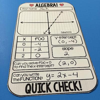 Algebra template