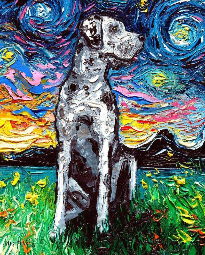 13-Great-Dane-Aja-Trier-The-Starry-Night-Dog-Paintings-www-designstack-co