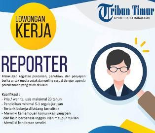 Lowongan Kerja Reporter di Tribun Timur