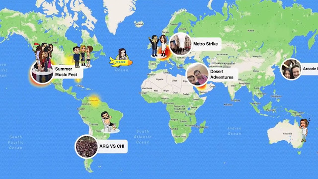 خريطة سناب لمشاركة المواقع Snap Map