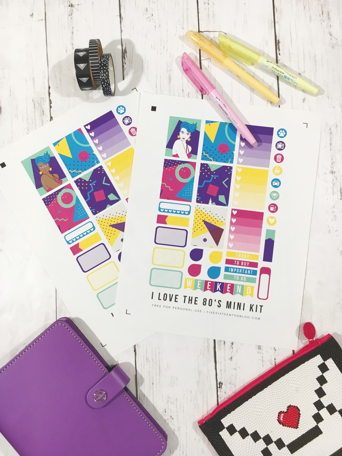 Free Weekly Planner Stickers