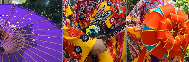 Okinawa kimono details