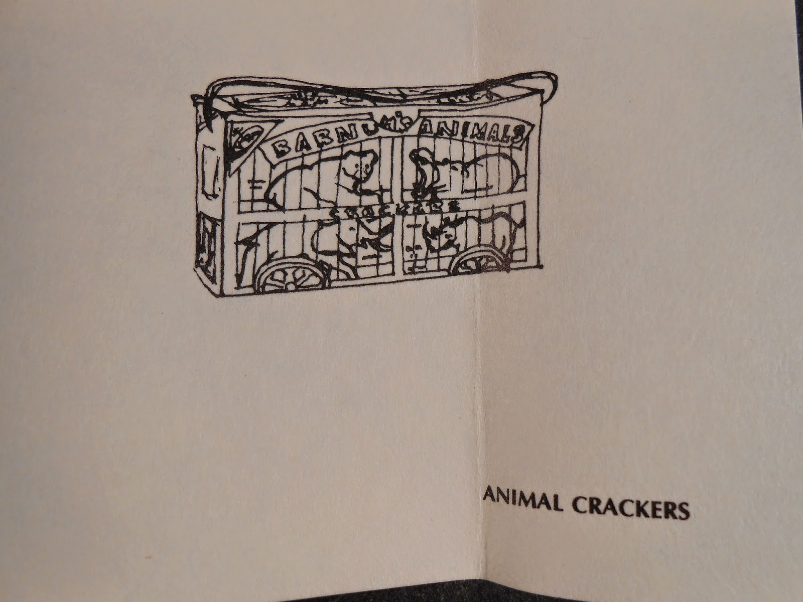 A drawing of a Barnum's animals crackers box.